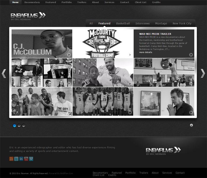 Eric Newman Films Website