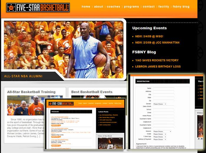 Five Star Basketball Website