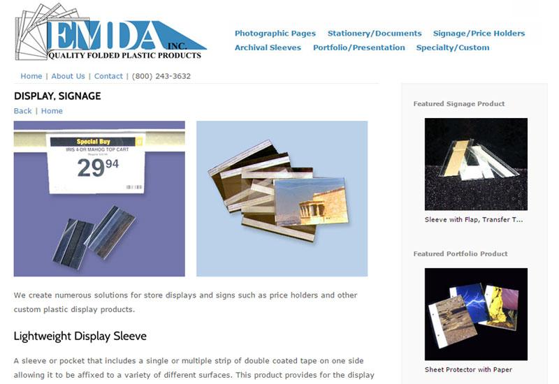 EMDA Plastic Product Listing