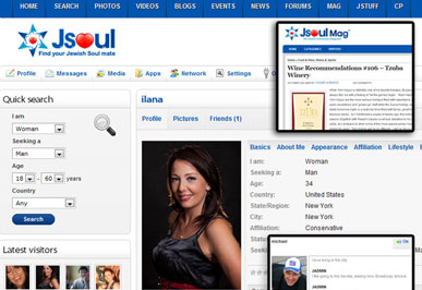JSoul Jewish Dating Social Network