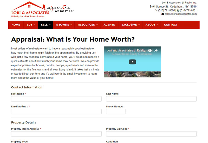 Lori Real Estate Appraisal Form