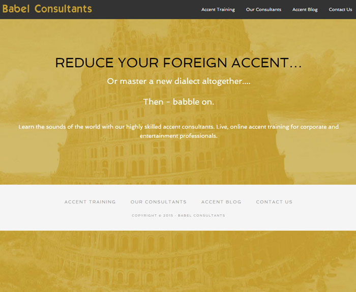 Babel Consultants Accent Training