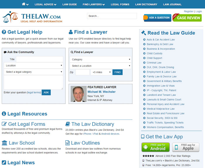 TheLaw.com Legal Advice Network